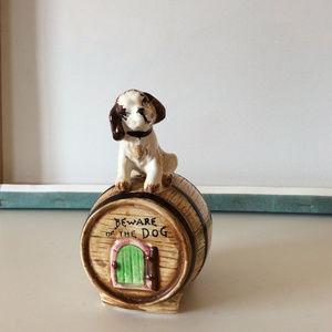 Vintage Beware of The Dog Porcelain Bank